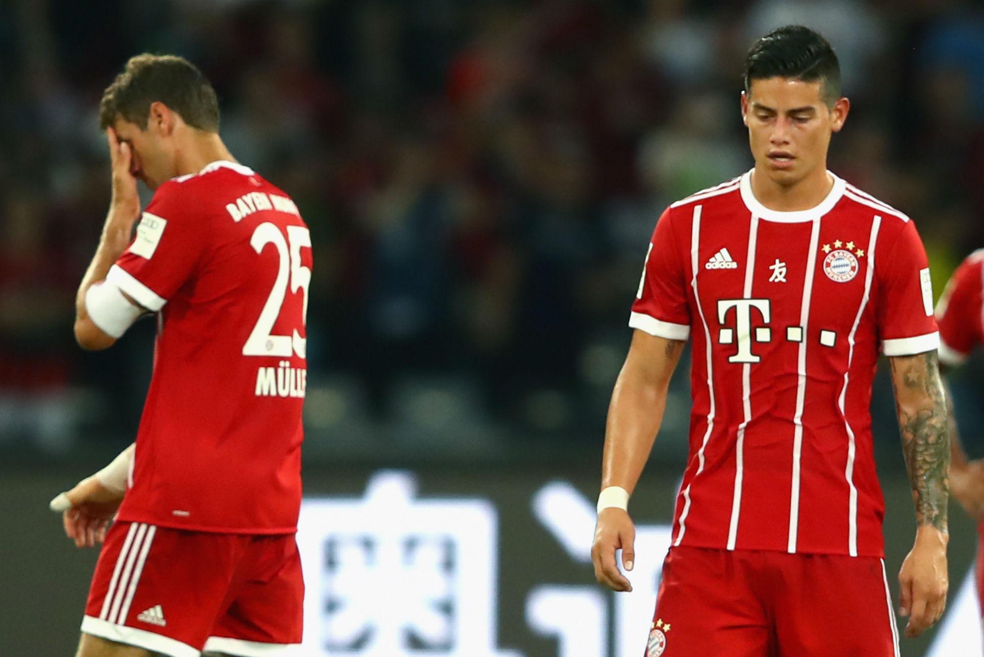 Thomas Muller James Rodriguez Bayern