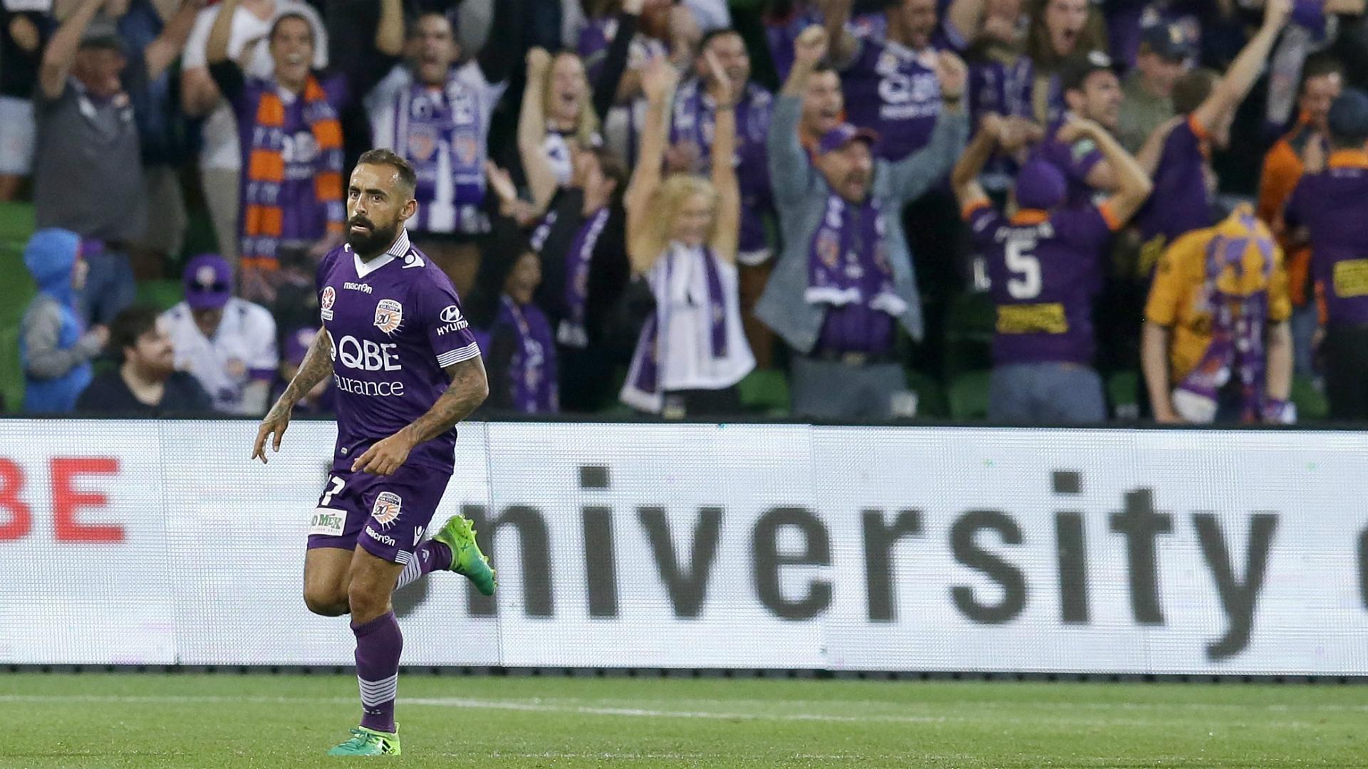 Diego Castro Melbourne City v Perth Glory A-League 23042017