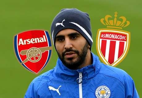 Arsenal target Mahrez to snub Monaco