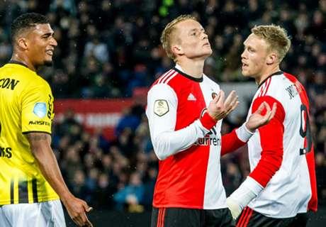 Feyenoord verslikt zich in slotfase in VVV