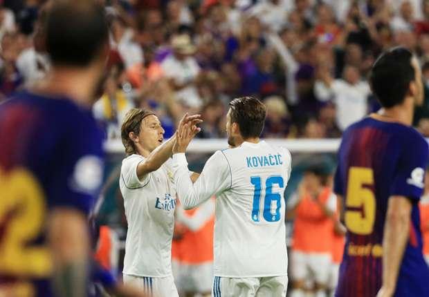 Luka Modrić i Mateo Kovačić protiv Barcelone