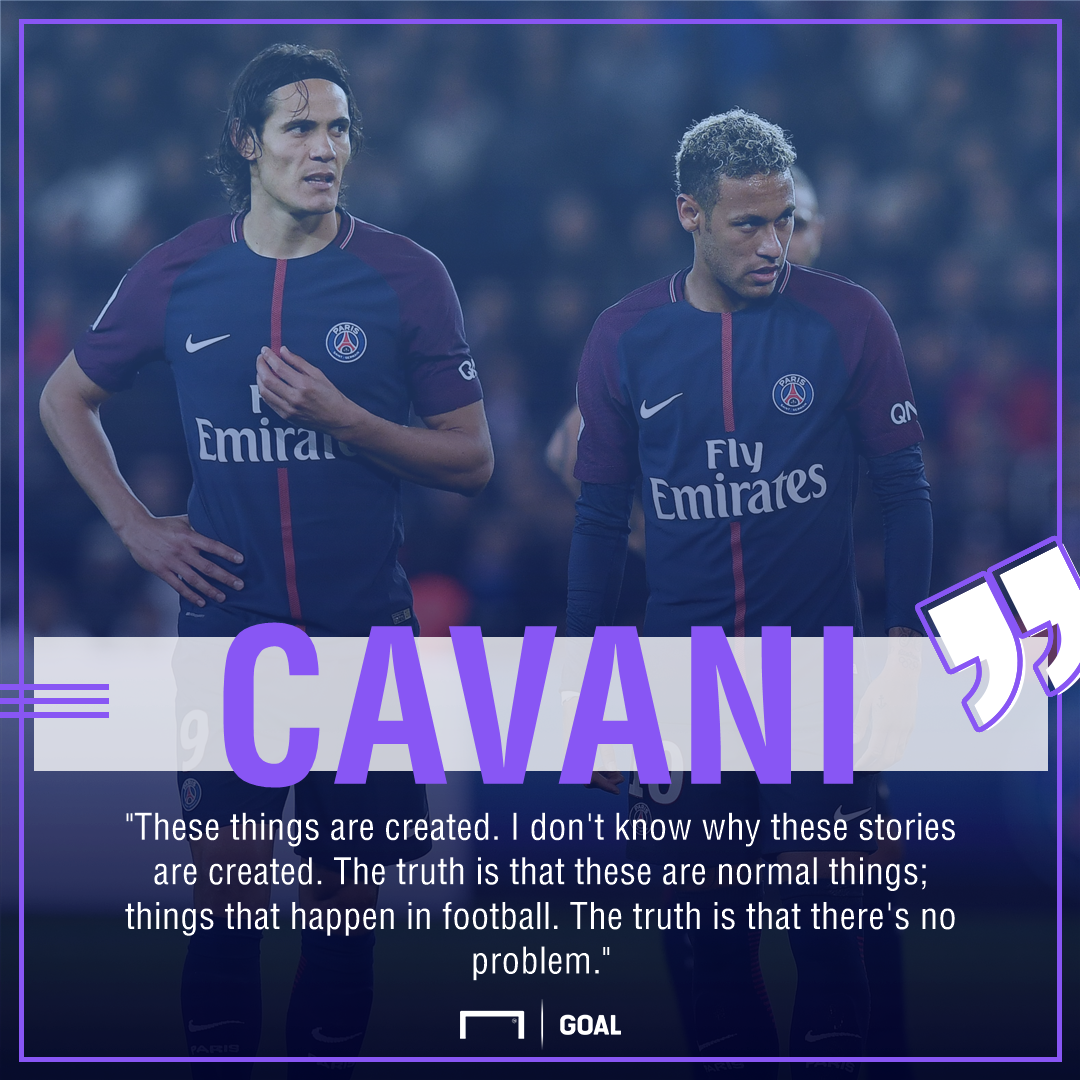 Edinson Cavani Neymar PSG no problem