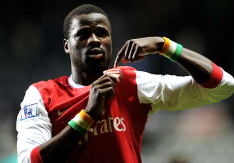 Eboue training with Hungarian side