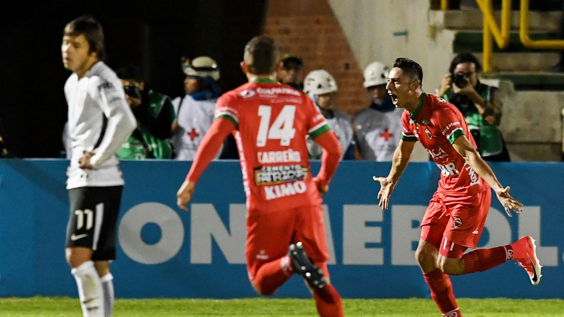 Mauricio Gomez Angel Romero Patriotas Boyaca Corinthians Copa Sudamericana 28062017