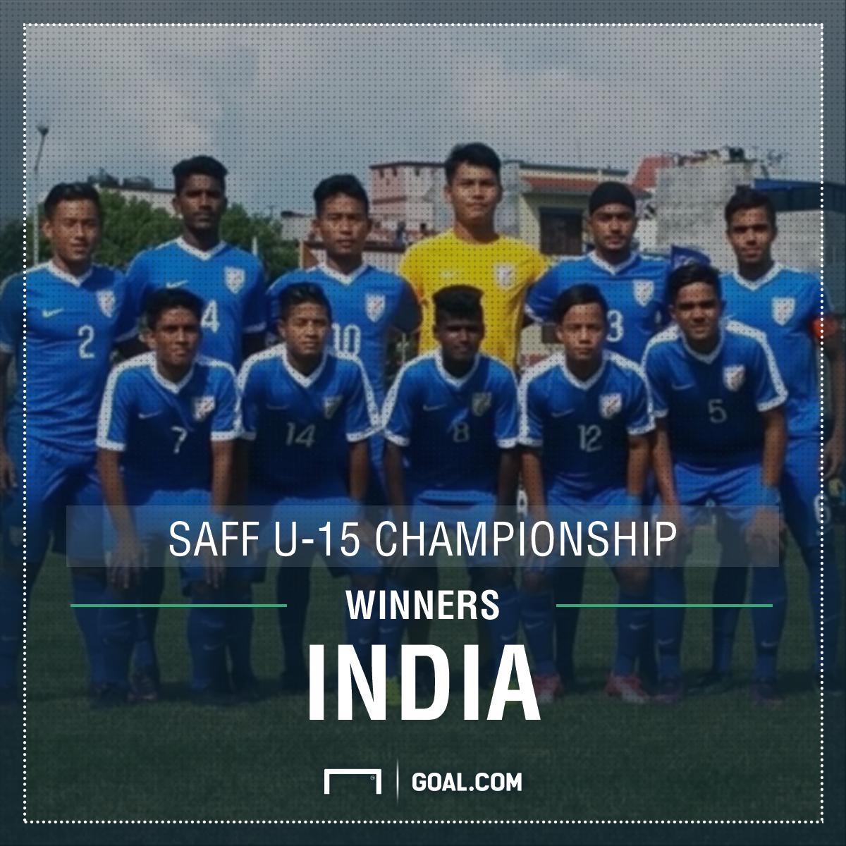 India U-15 winners SAFF