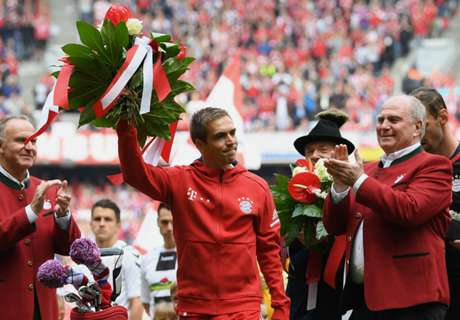 Lahm bids farewell as Bayern party