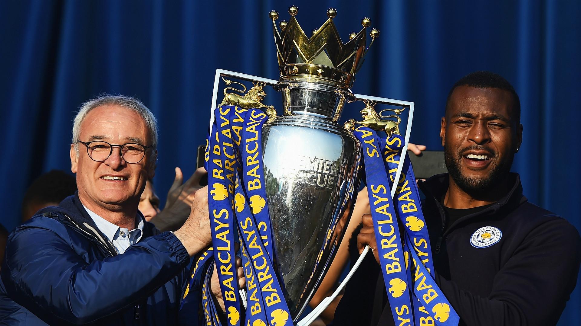 Claudio Ranieri Wes Morgan Leicester City