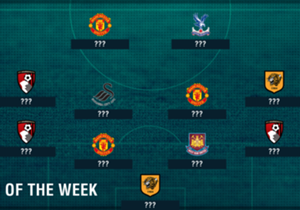 Manchester United and Bournemouth have three representatives in the latest Premier League Team of the Week, powered by Opta data!