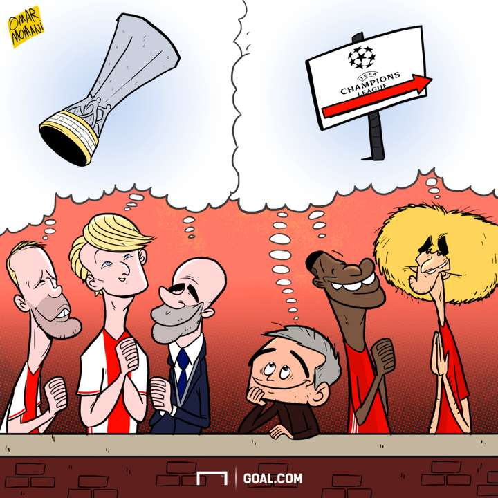 Cartoon - Manchester United vs Ajax