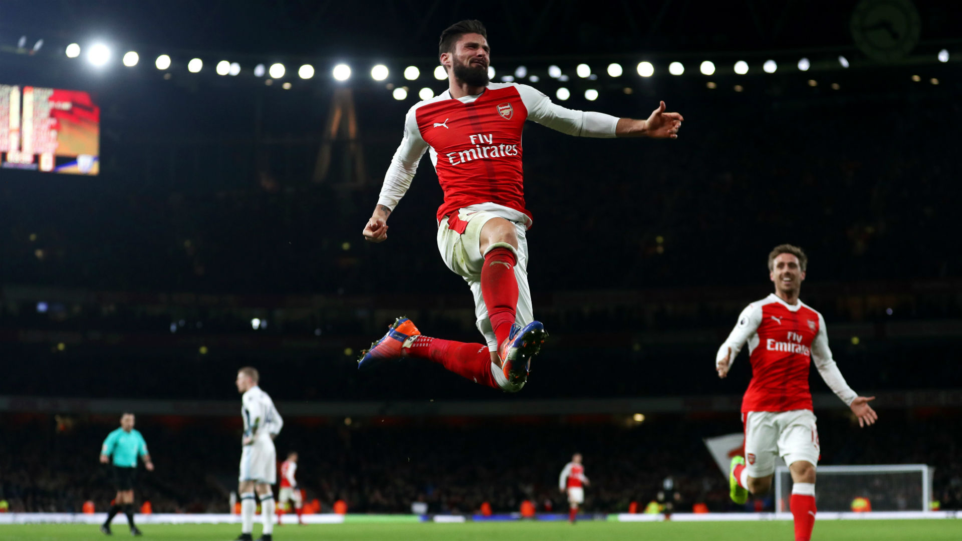 Olivier Giroud Premier League Arsenal v West Brom 231616