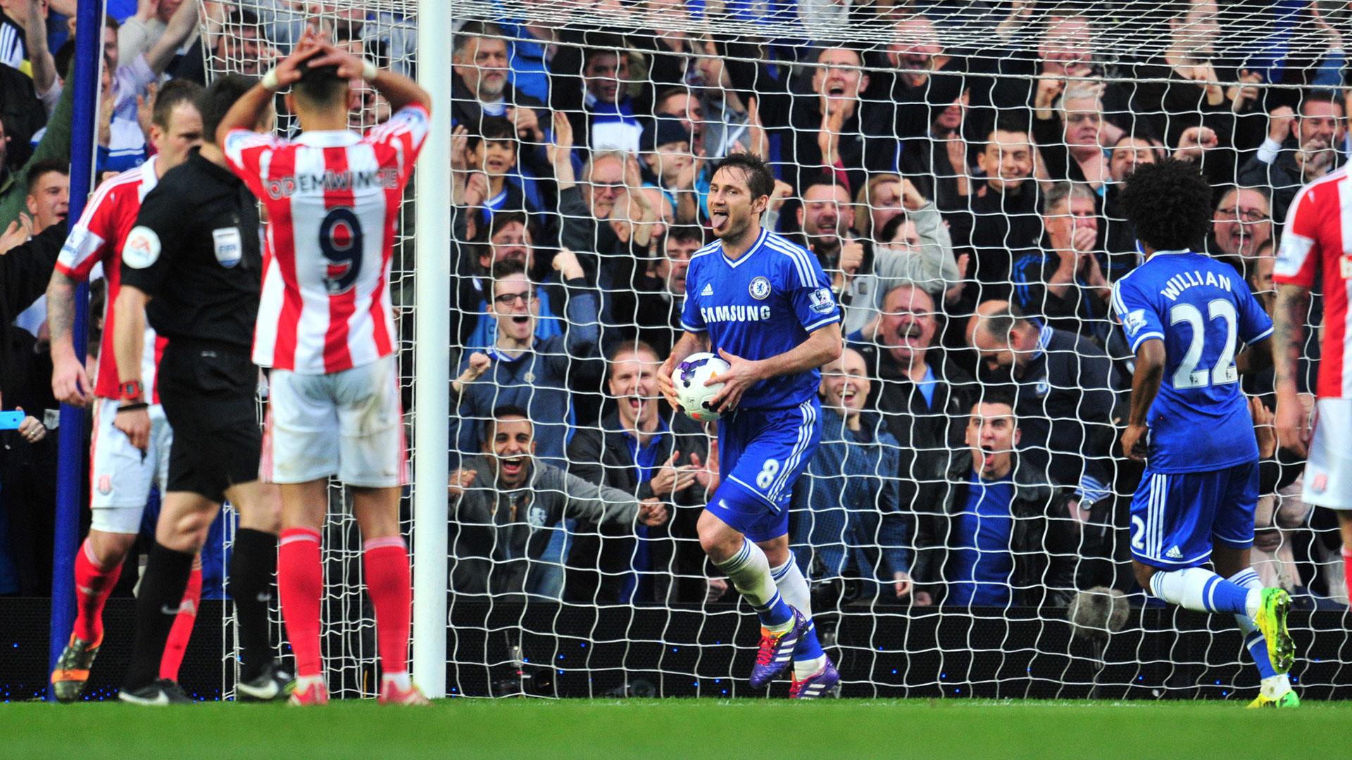 Frank Lampard Chelsea Stoke