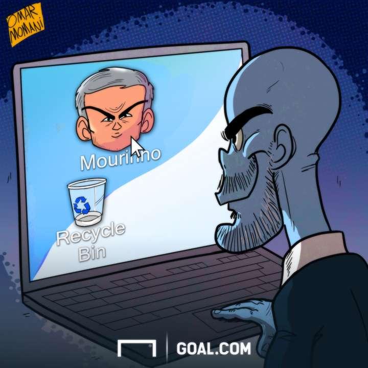 Cartoon Mourinho the icon