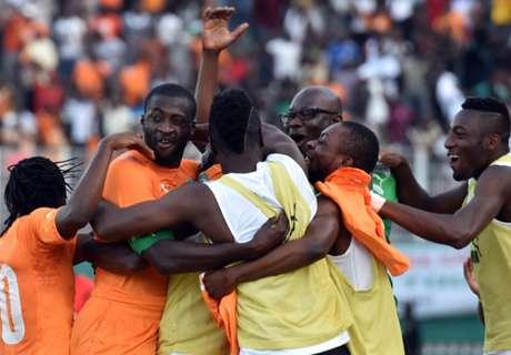 Nigeria redt lijf, Ivoorkust in shock