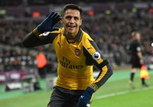 The Arsenal forward struck a superb hat-trick against London rivals West Ham while Diego Costa led Chelsea to victory over Manchester City, but who else is included?