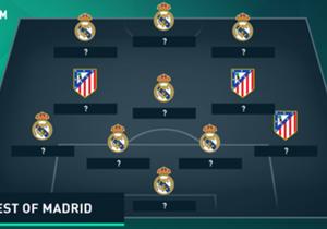 Real und Atletico verfügen aktuell über zahlreiche Top-Spieler - doch wer waren die Stars der Vergangenheit? Goal hat eine kombinierte Top-11 der beiden Champions-League-Finalisten zusammengestellt ...