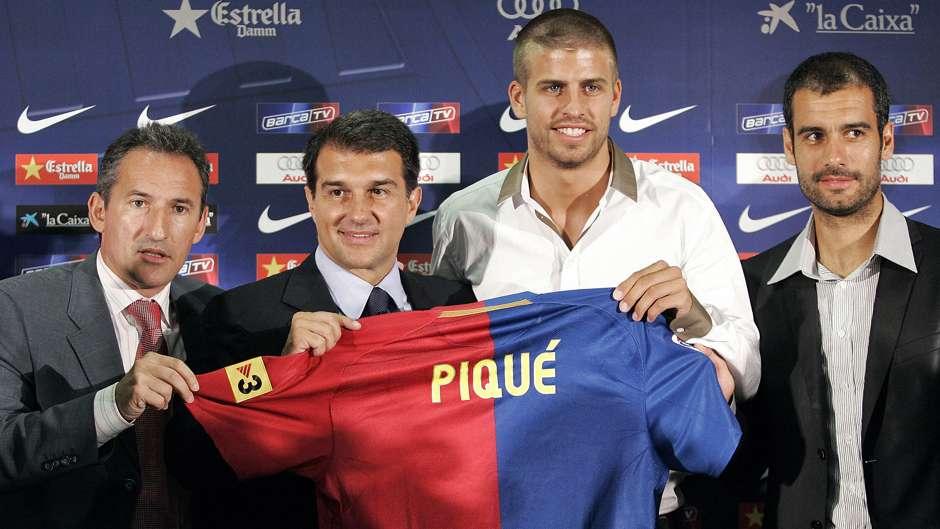 Gerard Pique Pep Guardiola Barcelona
