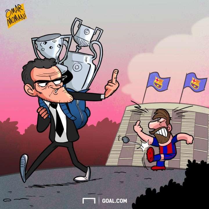 Cartoon - Luis Enrique to leave Barcelona