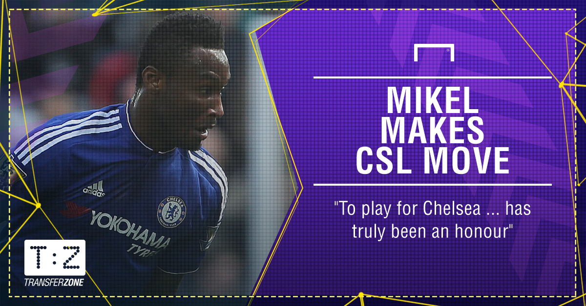 John Obi Mikel signs for Tianjin TEDA