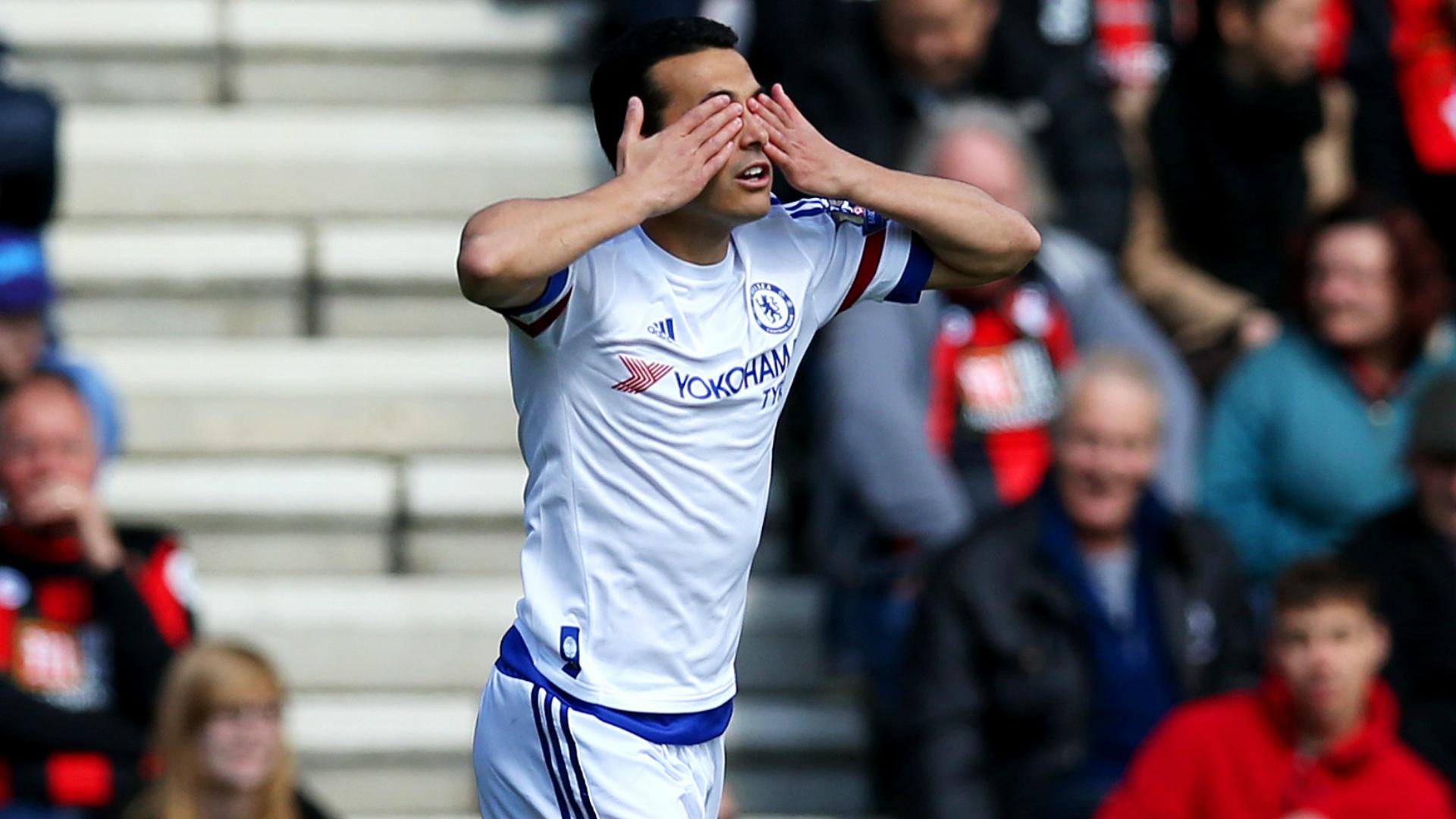 HD Pedro celebrates Bournemouth Chelsea 23042016