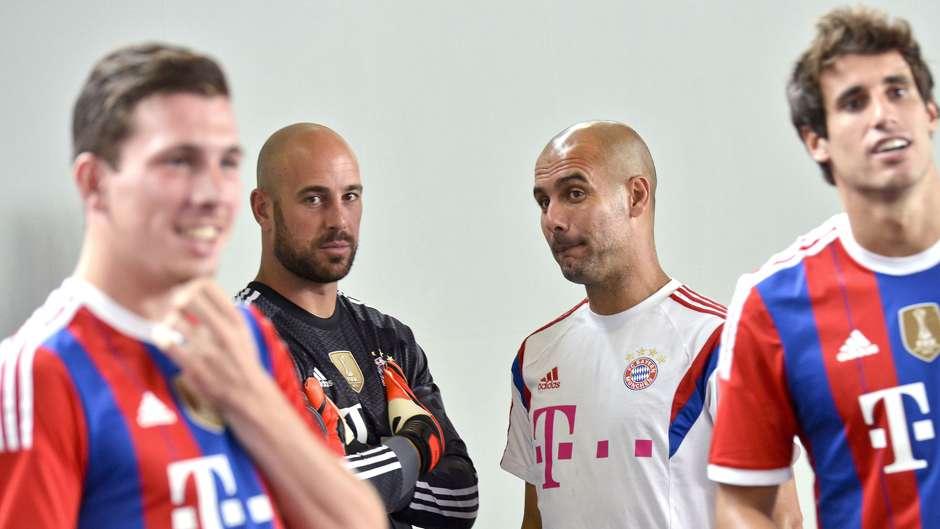 Pep Reina Pep Guardiola Bayern Munich