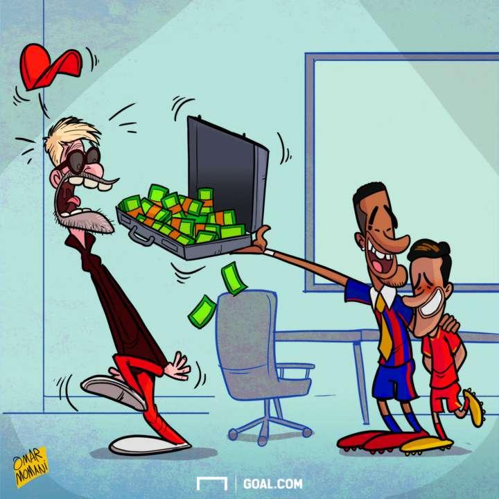 CARTOON Neymar buys Coutinho