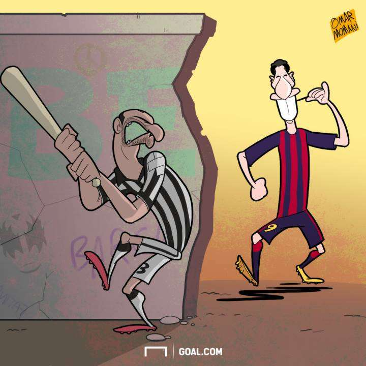 Luis Suarez Giorgio Chiellini Cartoon