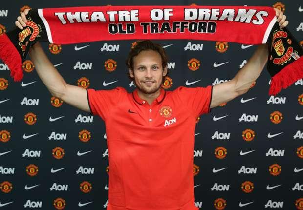 Blind bij zijn presentatie als United-speler