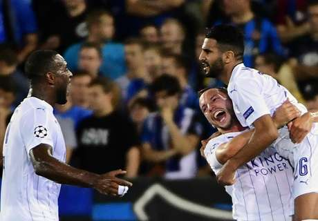 Champions: Brujas 0-3 Leicester