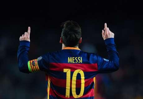 Messi, el mejor por goleada