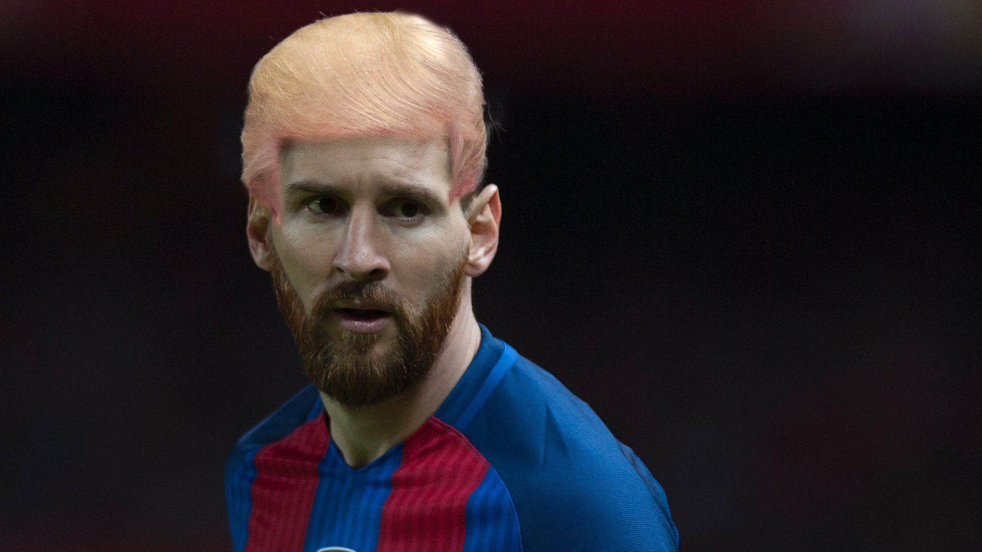 Ronaldo Messi & Co mit den Haaren von Donald Trump