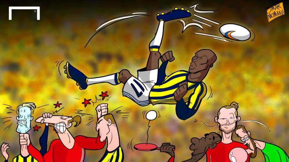 Cartoon Moussa Sow Manchester United