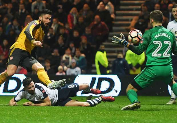Preston North End 1-2 Arsenal: Giroud edges Gunners into round four