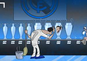Room for an eleventh? Real Madrid prepare the trophy cabinet in anticipation of La Undecima after knocking out Manchester City to reach the Champions League final with cross-town rivals Atletico