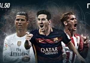 Estos son los jugadores que se desempeñan en la Liga española que quedaron seleccionados en el Goal 50. Este viernes, se conocerá al gran ganador. A continuación, los nombres...