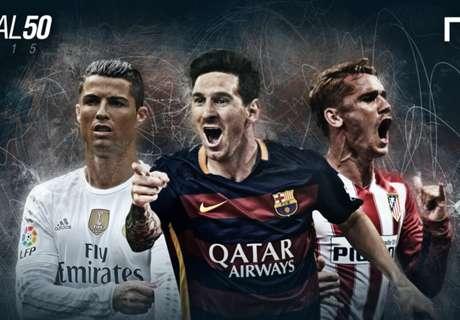 Le star della Liga nella Goal 50