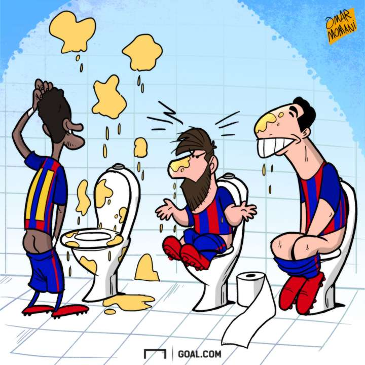 Messi Suarez Neymar cartoon