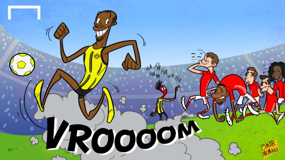 CARTOON Bolt joins Dortmund