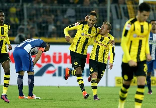 Borussia Dortmund 1-1 Hertha Berlin: Aubamayeng salvages point in frantic finale