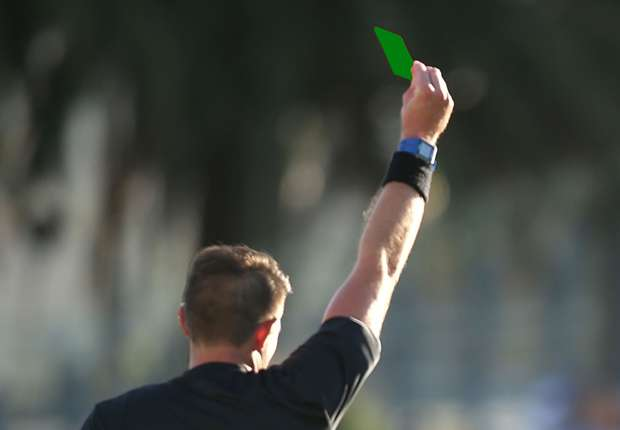Image result for First Ever Green Card in Football
