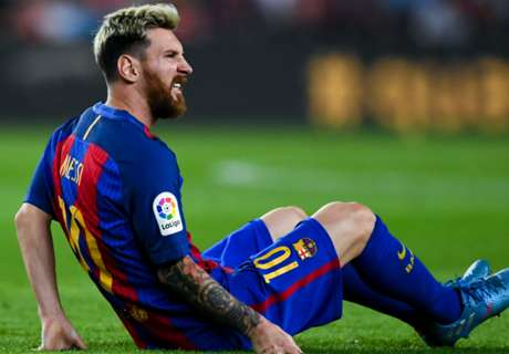 The matches injured Messi will miss