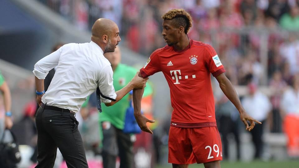 Pep Guardiola Kingsley Coman Bayern Munich
