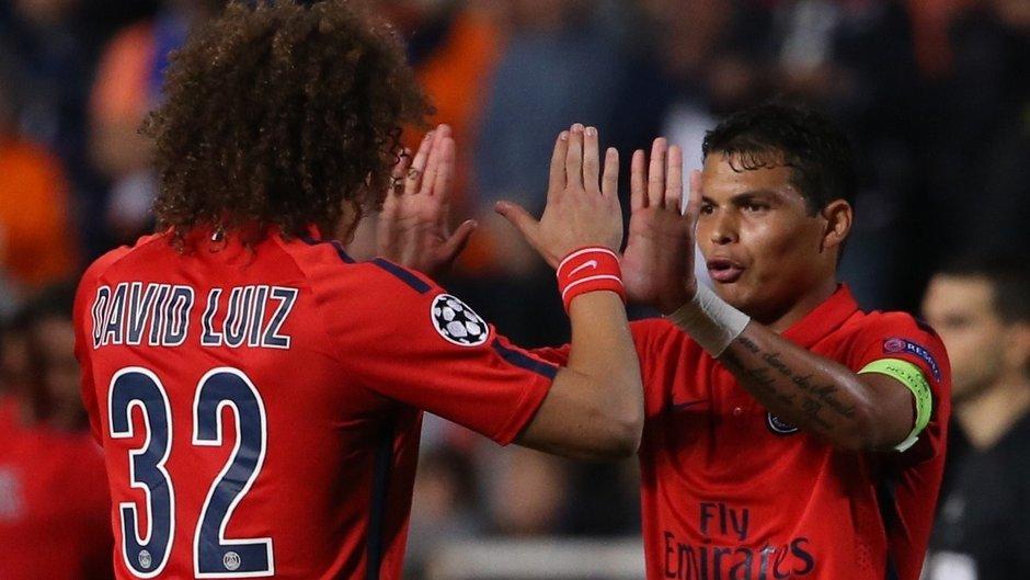 David Luiz Thiago Silva Paris Saint-Germain