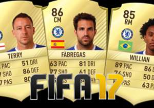 Chelsea have revealed their senior squad's player ratings for FIFA 17! Check them out, from goalkeeper Thibaut Courtois to striker Diego Costa...