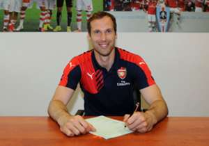Arsenal have announced the signing of Petr Cech from Premier League rivals Chelsea for an undisclosed fee.