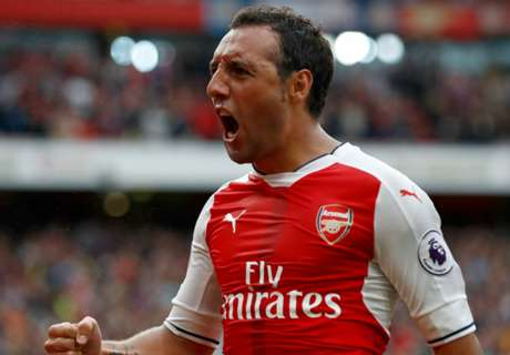 Cazorla's thumbs up after successful op
