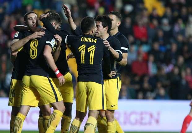 Guijuelo 0-6 Atletico Madrid: Simeone's men steamroller hosts