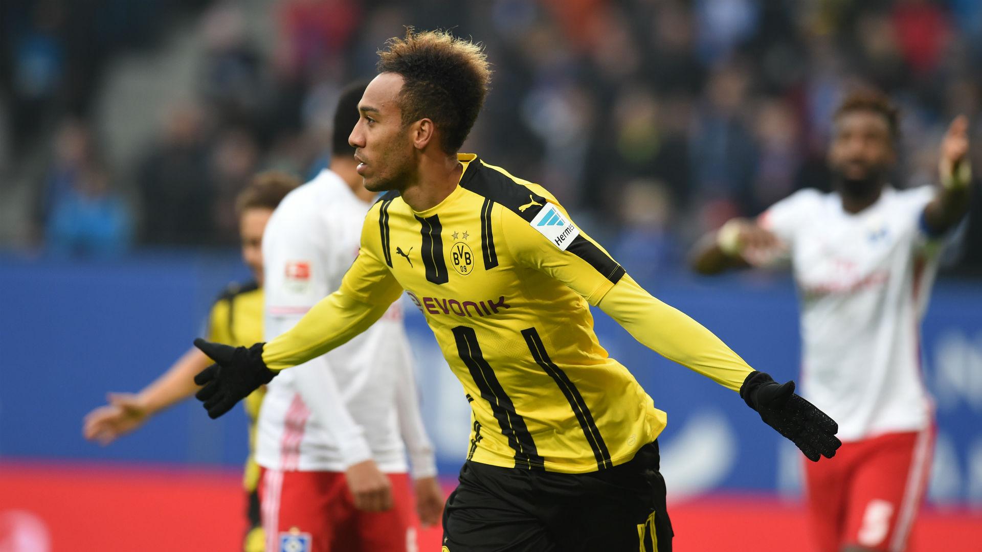 Pierre Emerick Aubameyang Borussia Dortmund v Hamburg Goal