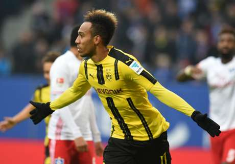 Aubameyang scores four on BVB return
