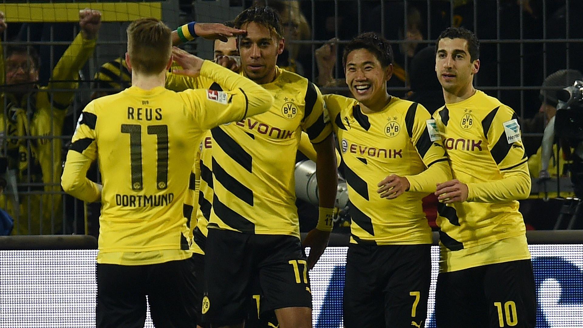 Pierre Emerick Aubameyang Shinji Kagawa Marco Reus Borussia