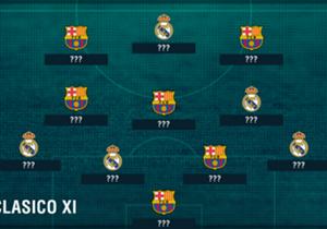 """Wie sähe aktuell eine gemeinsame Top-11 aus Spielern von Real Madrid und dem FC Barcelona aus? Goal zeigt es mit den Stars, die gut drauf sind und im Kracher am Samstag auflaufen können.<ad><p style=""""text-align: center;""""><a href=""""http://bit.ly/2gCA9OR""""..."""